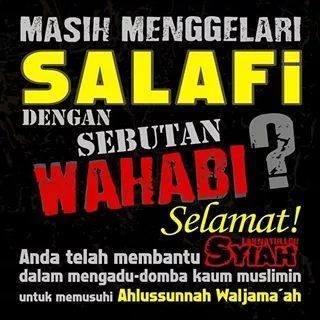 selamat kepada yang menyebut salafi dengan wahabi