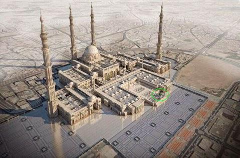 makam di depan masjid