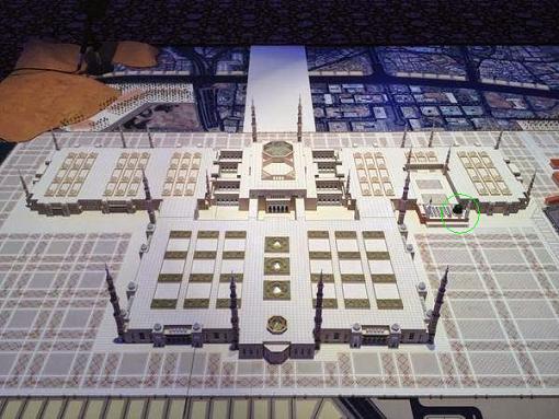 Makam nabi di sebelah kiri masjid