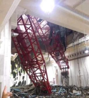 jatuhnya crane di mekah adalah takdir Allah